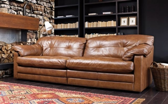 Bailey 4 Seater Split Sofa In Grade A Leather – Leather Sofas Within Fashionable 4 Seat Leather Sofas (View 4 of 15)