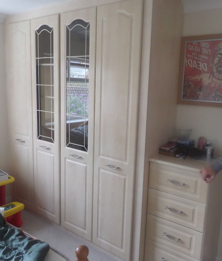 Bargain Wardrobes Pertaining To Well Liked Sold !!!! – Sharps Bedroom Fitted Wardrobes / Tallboy + X2 Bedside (View 5 of 15)