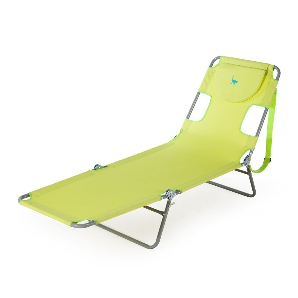 Beach Chaise Lounges Pertaining To 2017 Amazon: Ostrich Chaise Lounge, Green: Garden & Outdoor (View 4 of 15)
