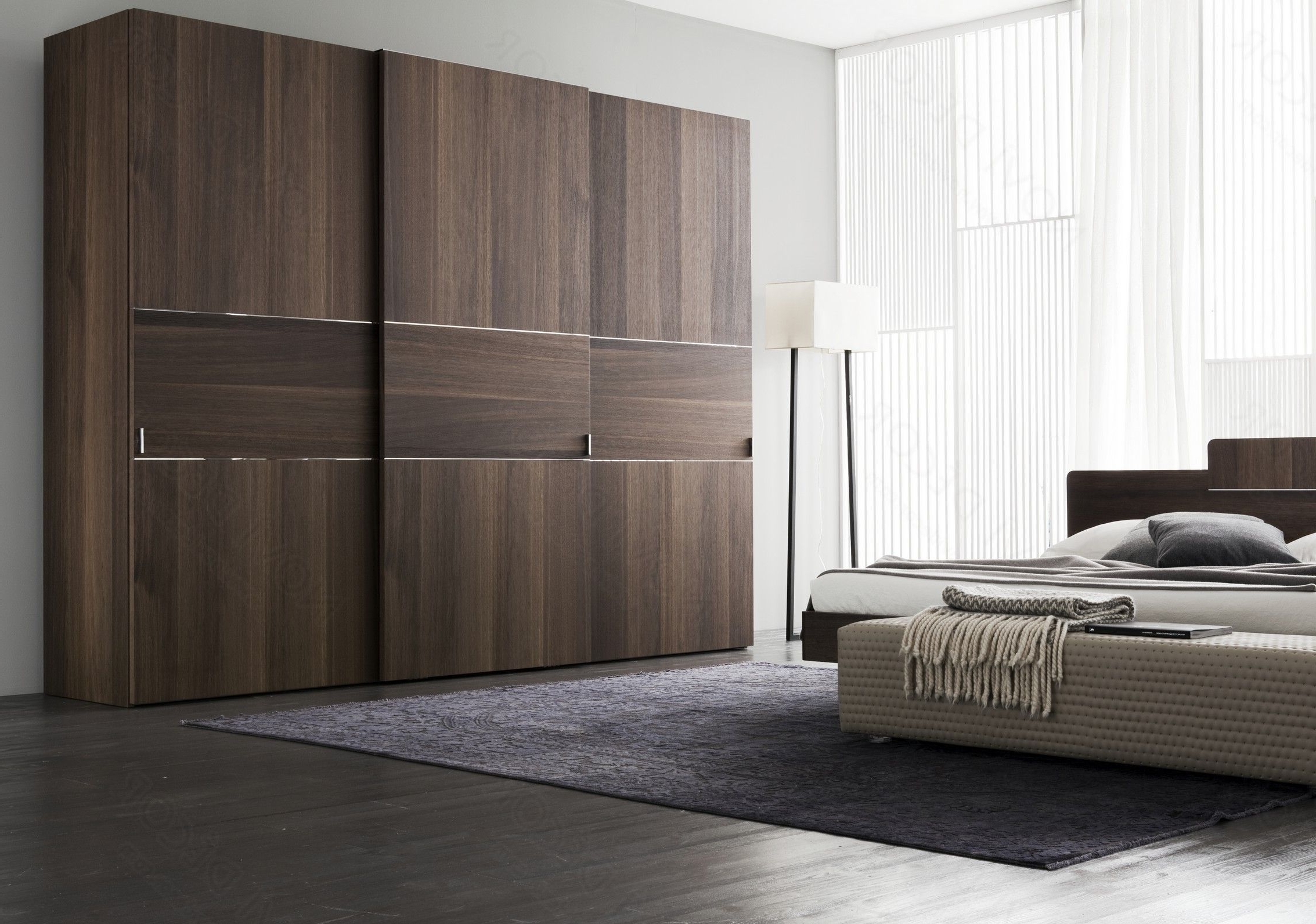 Bed And Wardrobes Combination Inside Current Sliding Wardrobe Doors As Nice Color Combination Furniture For (View 4 of 15)