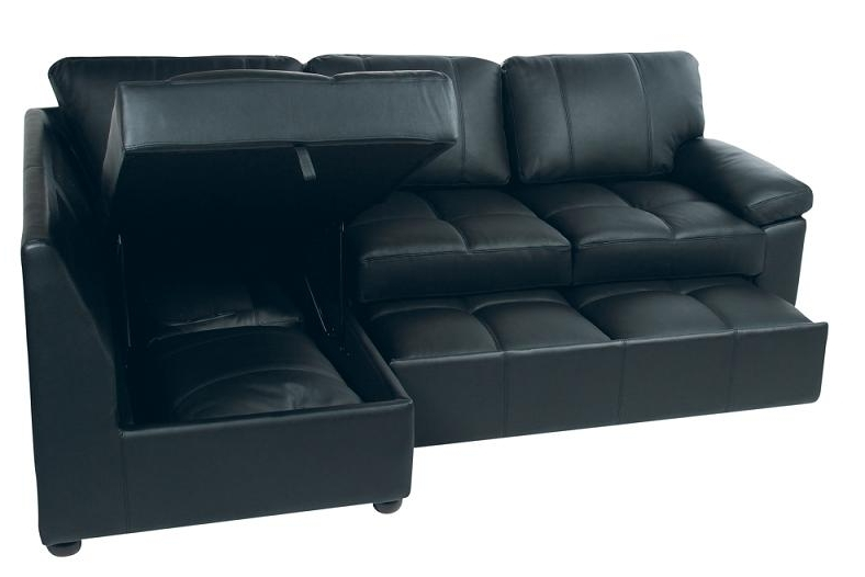 Bed Sofa With Storage Sofa Chair Bed Modern Leather Sofa Bed Ikea Throughout Popular Leather Sofas With Storage (View 5 of 10)