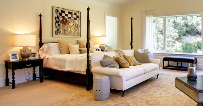 or with bedrooms couches a tray spacious and stunning master ceiling large deep fan loveseats against bedroom