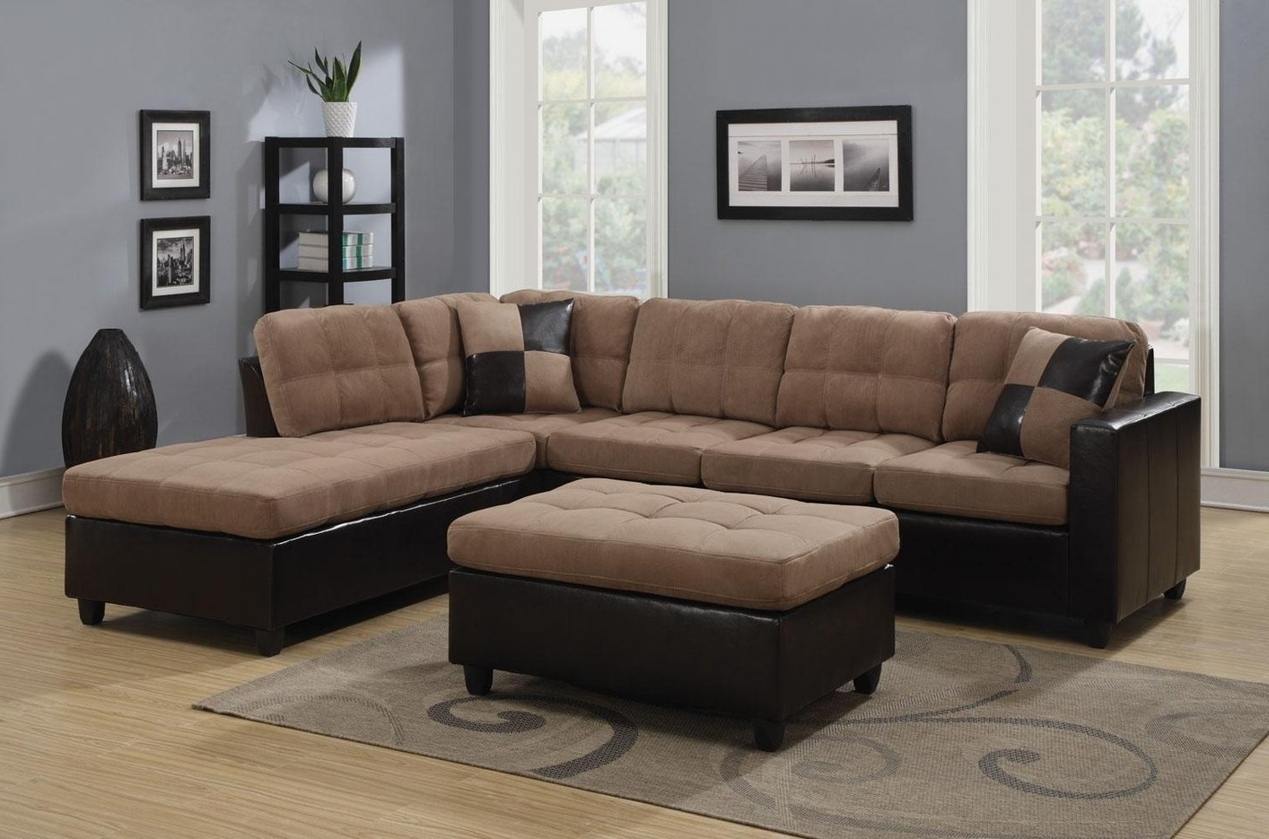 Beige Sectionals With Chaise Within Widely Used Sectional Sofa Design: Amazing Beige Sectional Sofas Beige Leather (View 9 of 15)