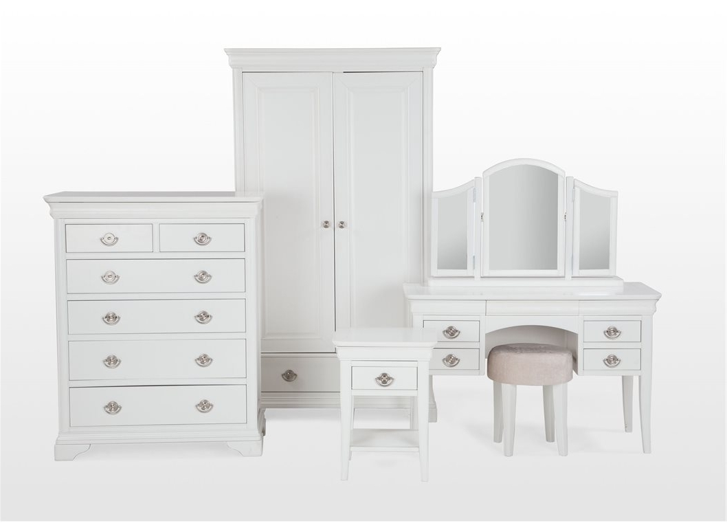 Belgravia White Wardrobe Double With 2 Drawers Door Single Wood Inside Well Known White Double Wardrobes With Drawers (View 14 of 15)
