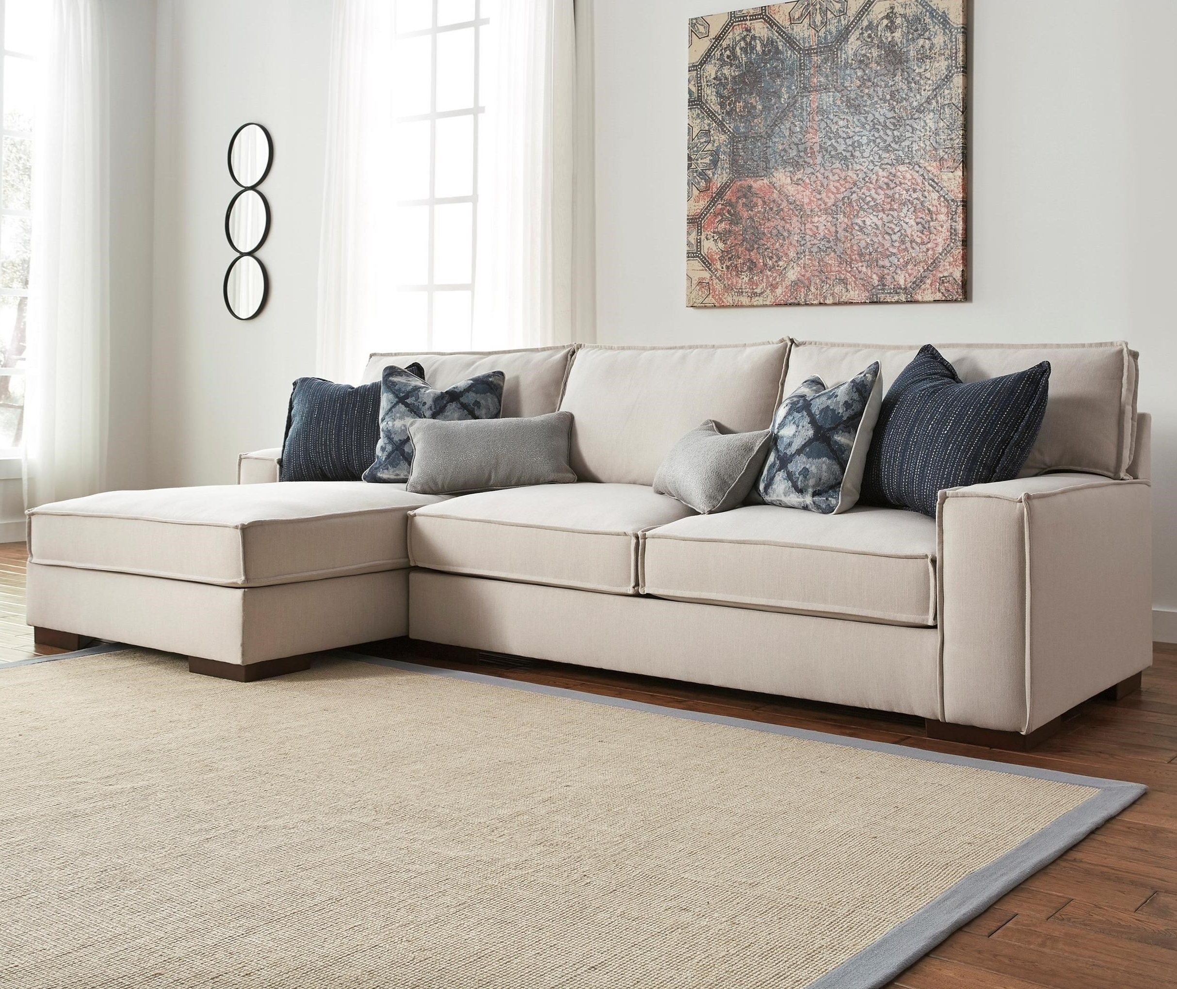 Benchcraft Kendleton Modern 2 Piece Sectional With Right Chaise In Most Up To Date 2 Piece Sectionals With Chaise (View 12 of 15)