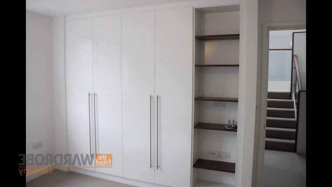 Bespoke Fitted Wardrobes High Gloss White With Open Bookcase – Youtube Within Most Up To Date High Gloss White Wardrobes (View 1 of 15)