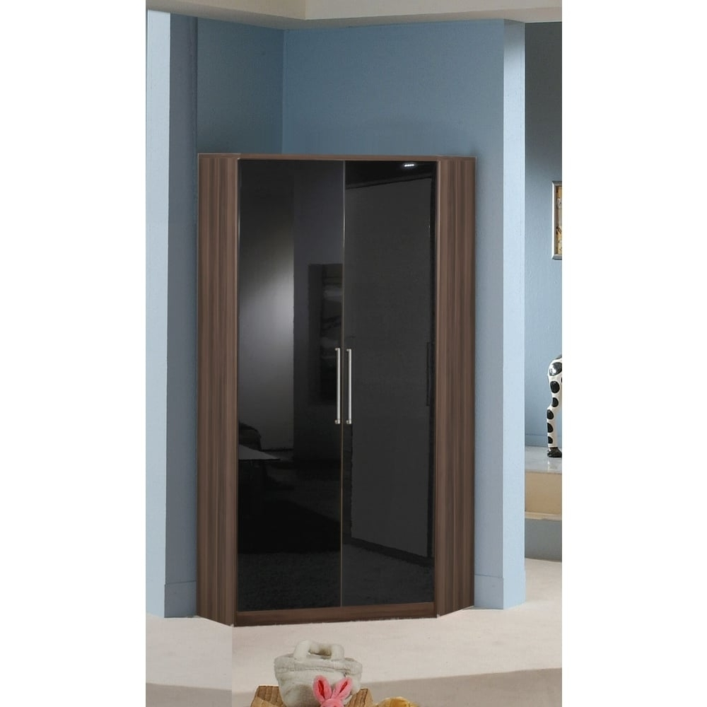 Best And Newest 2 Door Corner Wardrobes In Door Corner Wardrobe 95Cm – Choice Of Colours (View 6 of 15)