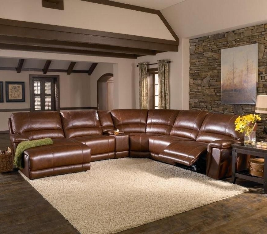 Best And Newest 6 Piece Leather Sectional Sofas With Htl Furniture: 2678cs Reclining Leather Sectional Sofa #den (View 15 of 15)