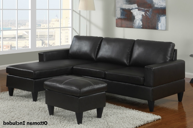 Best And Newest Black Leather Sectional Sofa And Ottoman – Steal A Sofa Furniture Intended For Leather Sectional Sofas With Ottoman (View 4 of 10)