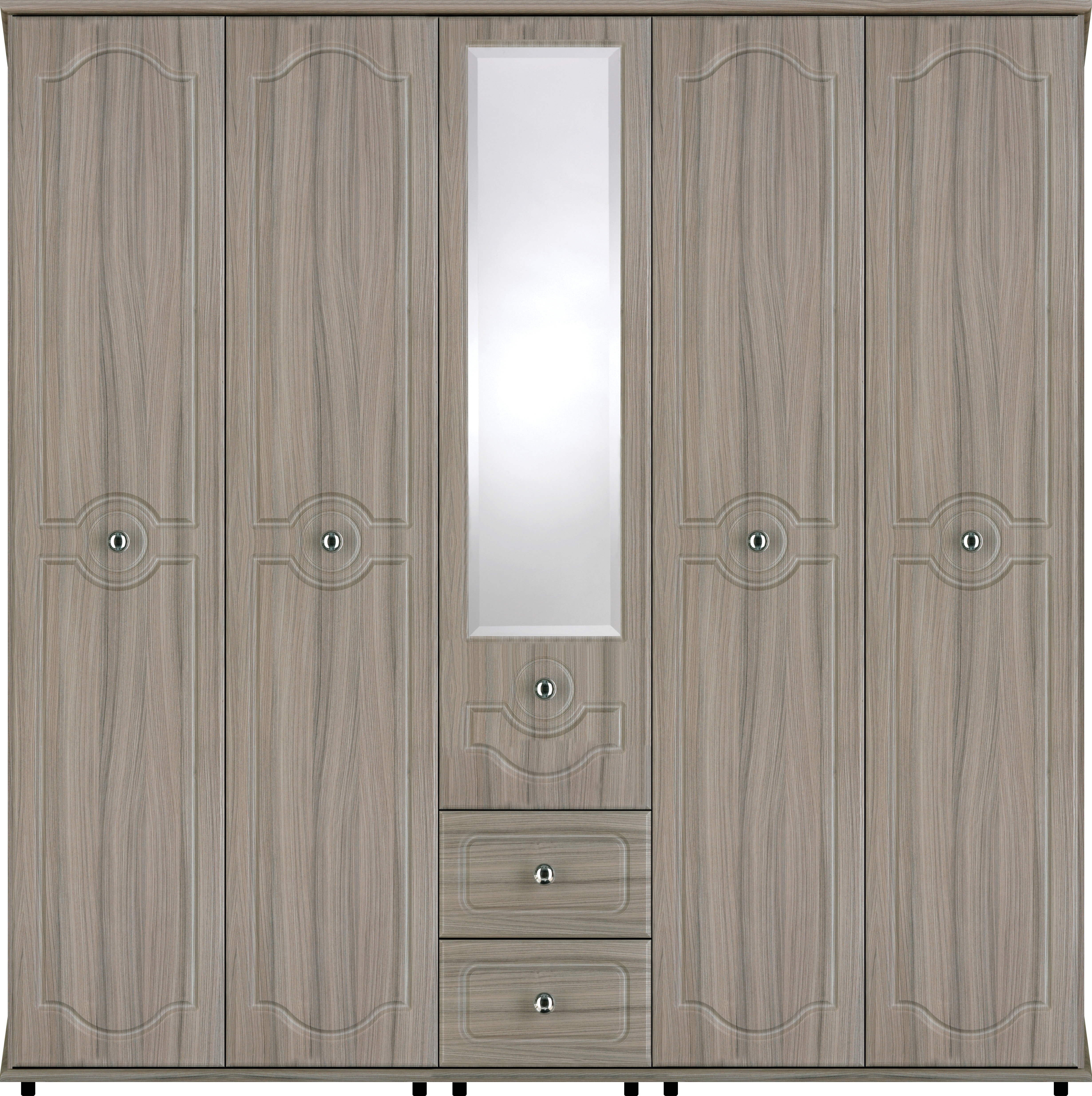 Best And Newest Bledlow 5 Door Wardrobe With 1 Mirror And 2 Drawers (View 5 of 15)