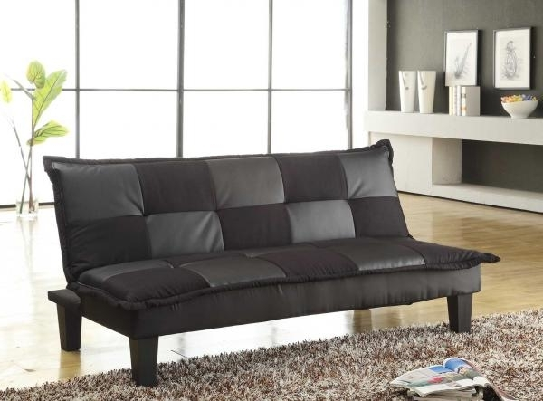 Best And Newest Cheap Black Sofas Pertaining To Sofas: Elan Black Sofa Bed, Baja Convert A Couch And Sofa Bed (View 9 of 10)