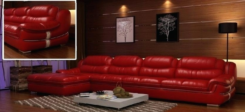 Best And Newest Decorating Ideas Living Room Red Leather Sofa Home Designs Idea In Red Leather Couches For Living Room (View 3 of 10)