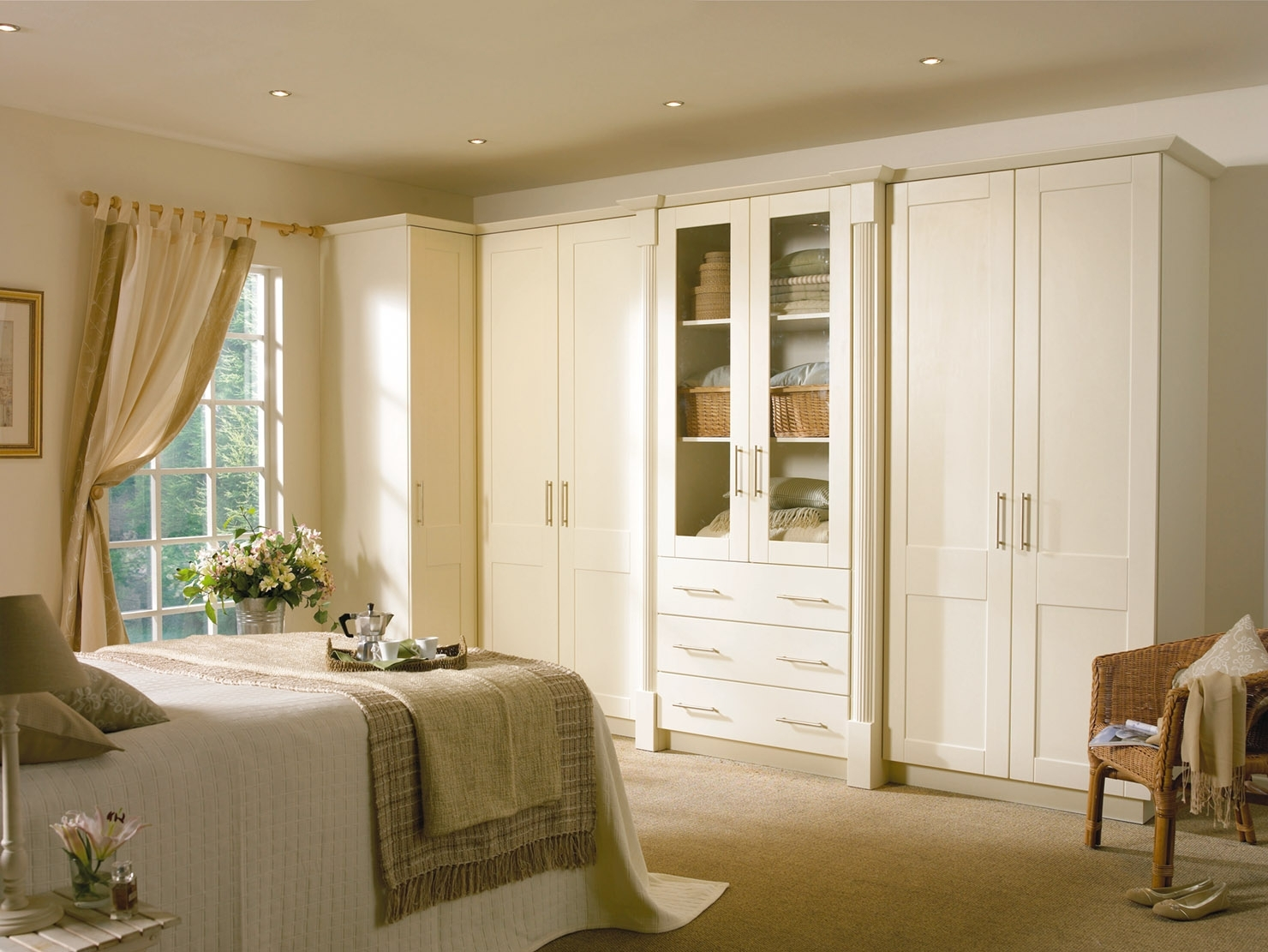 Best And Newest Fitted Wardrobe Within Ivory Wardrobes (View 1 of 15)