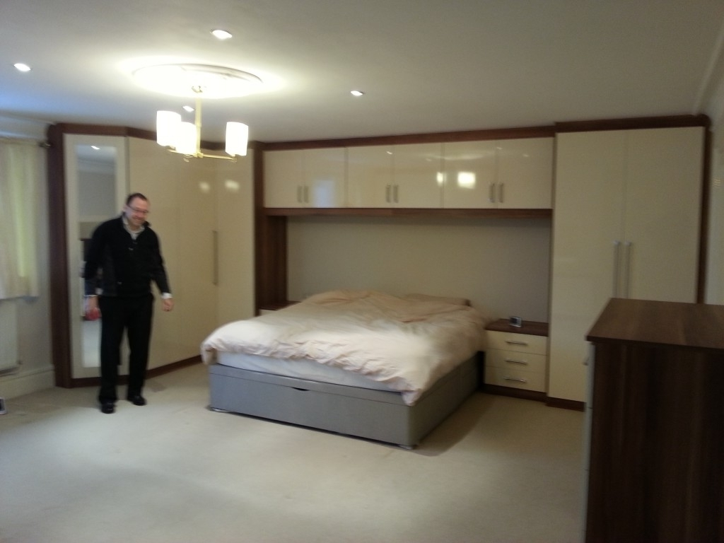 Best And Newest Fitted Wardrobes For A Large Bedroom Pertaining To Over Bed Wardrobes Sets (View 2 of 15)
