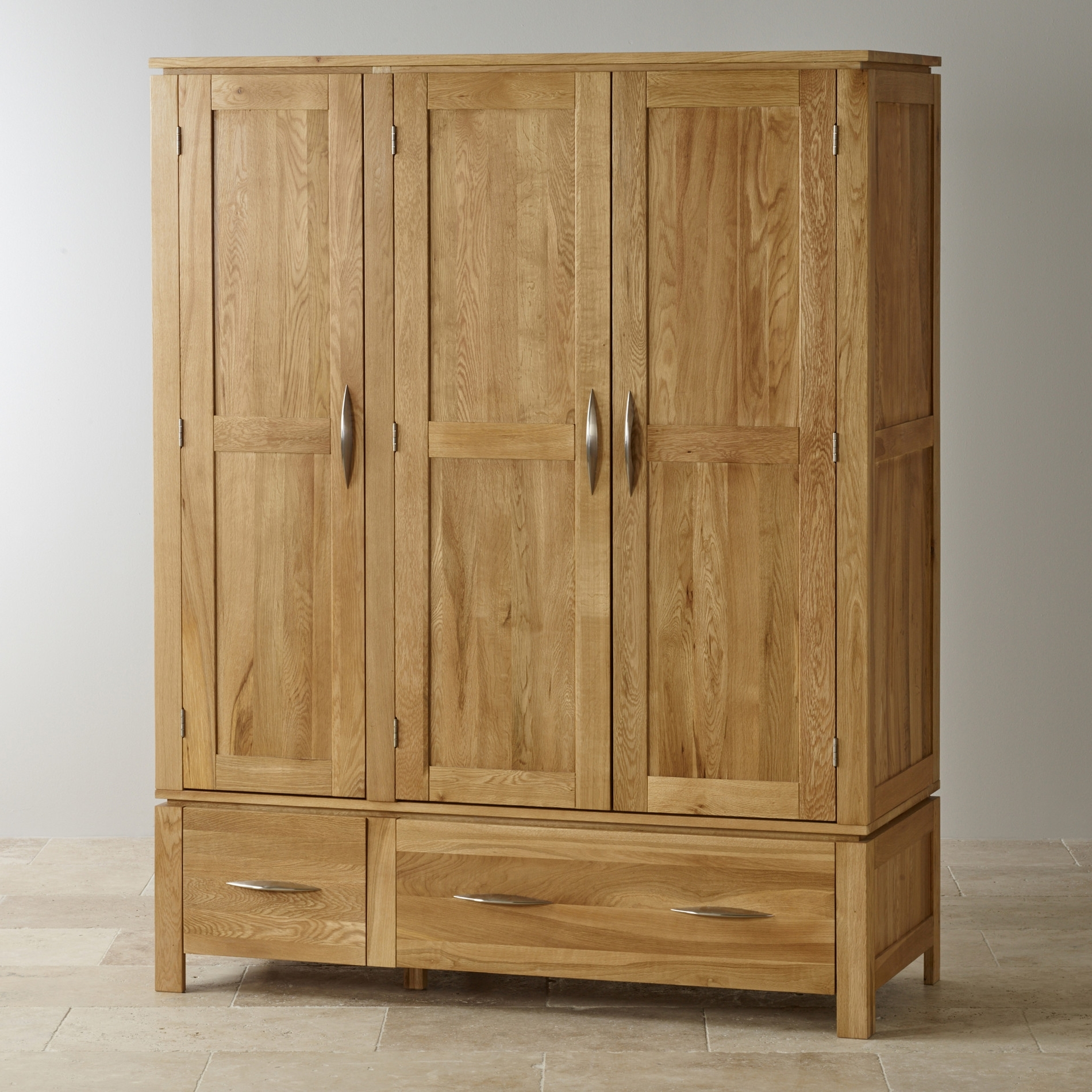 Best And Newest Galway Natural Solid Oak Triple Wardrobeoak Furniture Land For Oak Wardrobes (View 1 of 15)