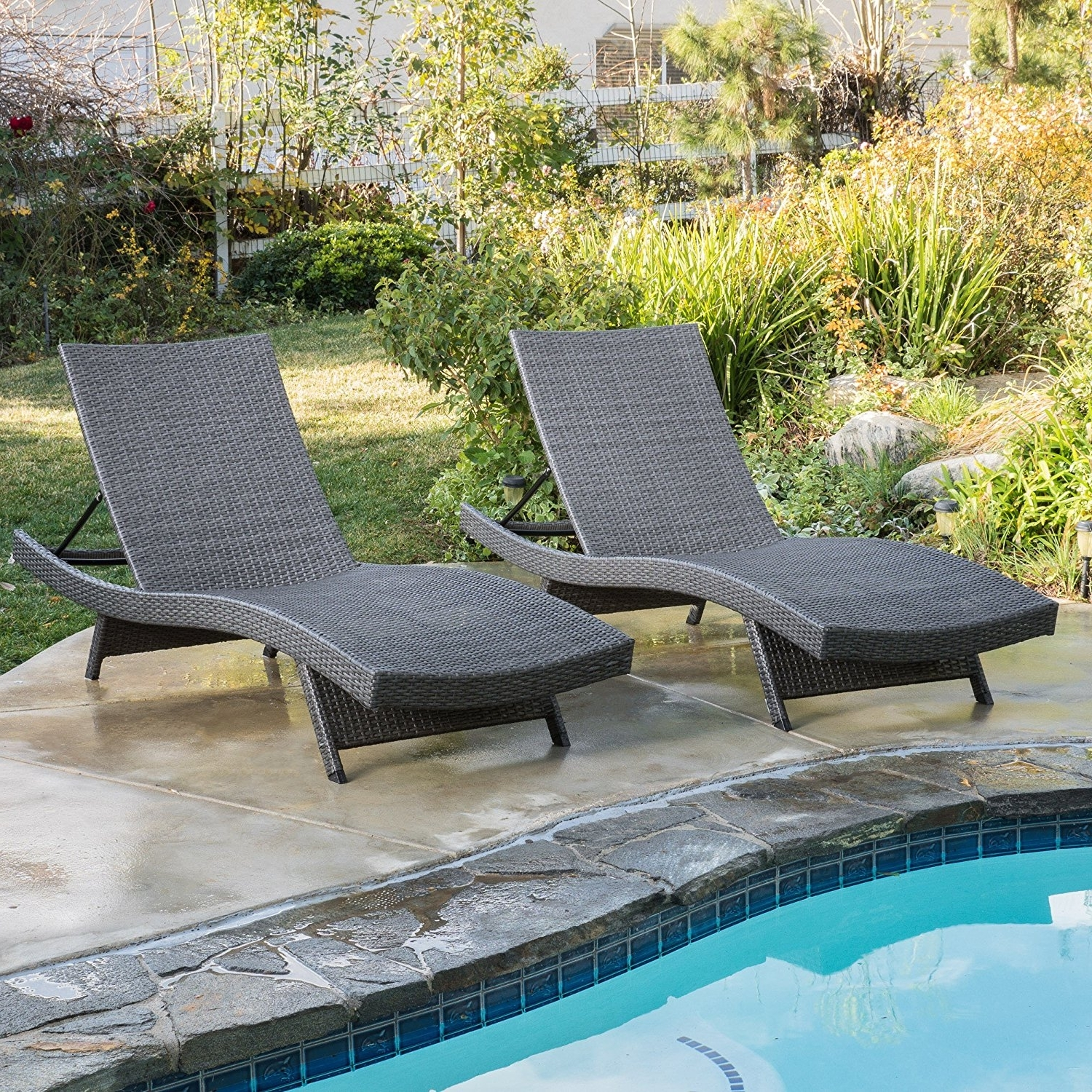 Best And Newest Luxury Outdoor Chaise Lounge Chairs With Regard To Amazon: Christopher Knight Home 662 Salem Chaise Outdoor (View 2 of 15)