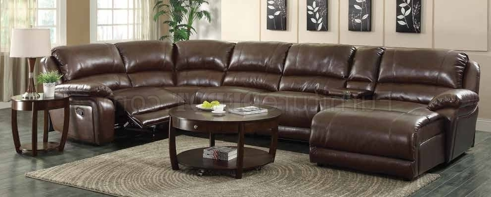 Best And Newest Motion Sectional Sofas In Mackenzie Motion Sectional Sofa 6pc Chestnut 600357coaster (View 4 of 10)
