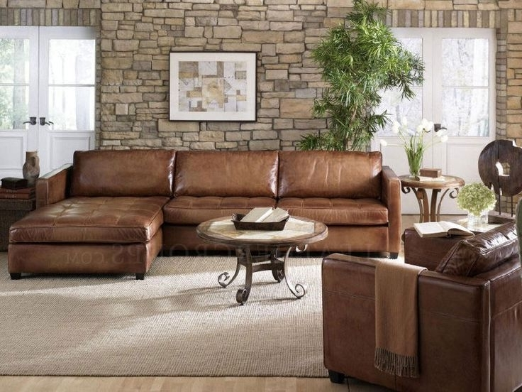 Best And Newest Nice Leather Sectional Sofa Best Ideas About Leather Sectional Regarding Camel Sectional Sofas (View 6 of 10)
