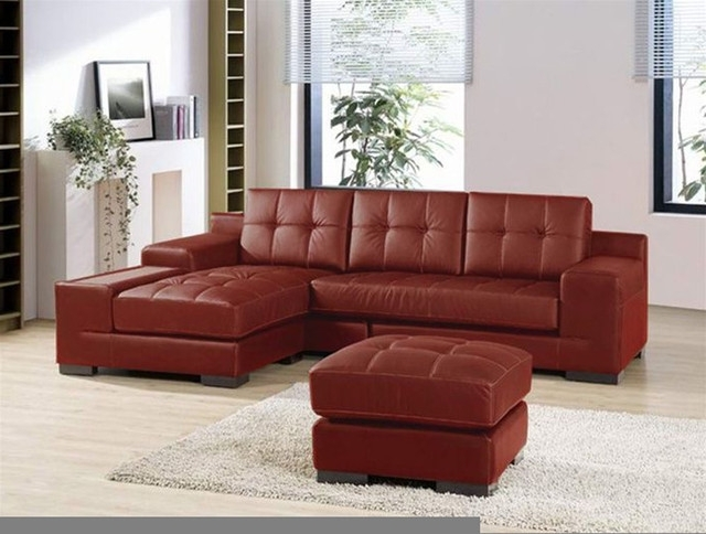Best And Newest Sectional Leather Sofas And Also Leather Sectional Sofa With Regarding Small Red Leather Sectional Sofas (View 2 of 10)