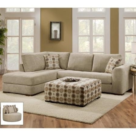 Best And Newest Sectional Sofa Design: Elegant 2 Pieces Sectional Sofa With Chaise Pertaining To Sectional Sofas With 2 Chaises (View 1 of 10)