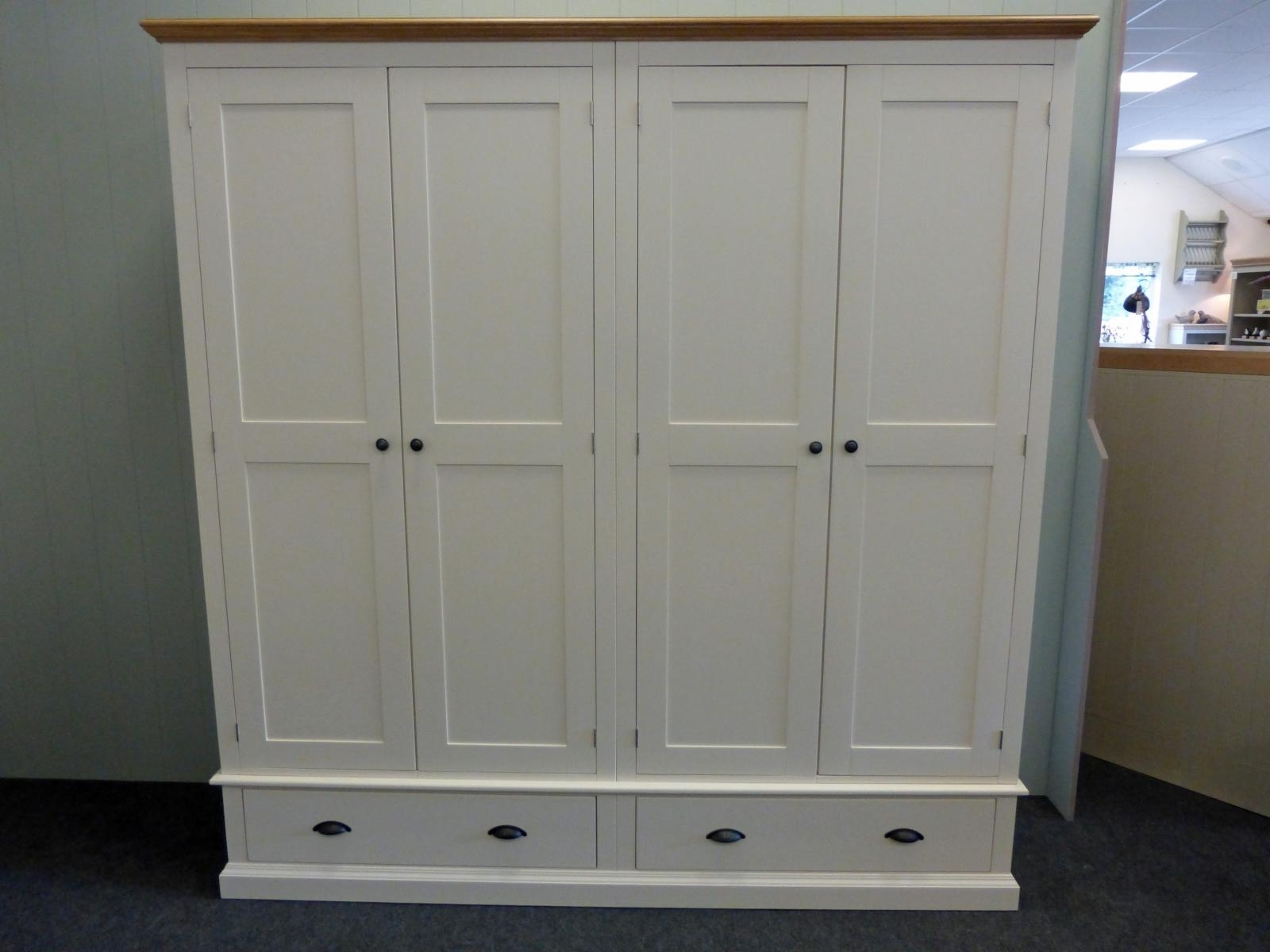 Best And Newest Tall Wardrobes With Regard To Painted Tall Quad Wardrobe – Painted – Wardrobes – Pine Shop Bury (View 6 of 15)