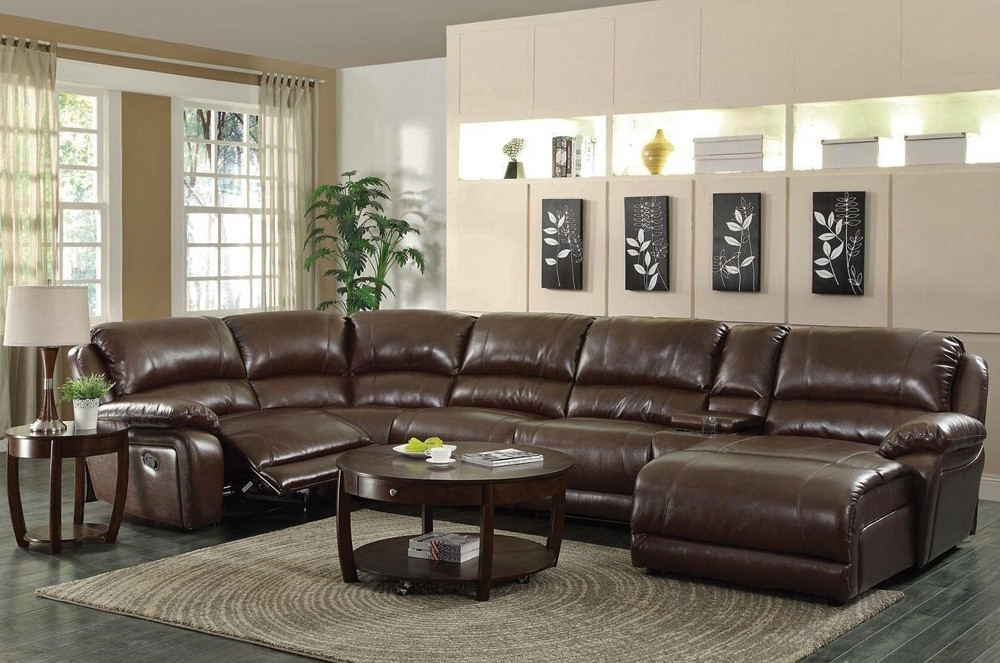 Best And Newest U Shaped Leather Sectional Sofas For Recliner Sectional With Console (View 1 of 10)