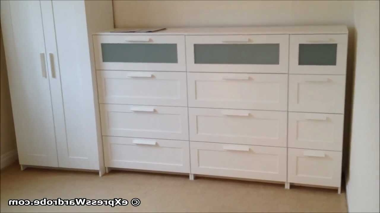 Best And Newest Wardrobes And Chest Of Drawers Combined Within Ikea Brimnes 2 Door Wardrobe Design With Chest Of Drawers – Youtube (View 4 of 15)
