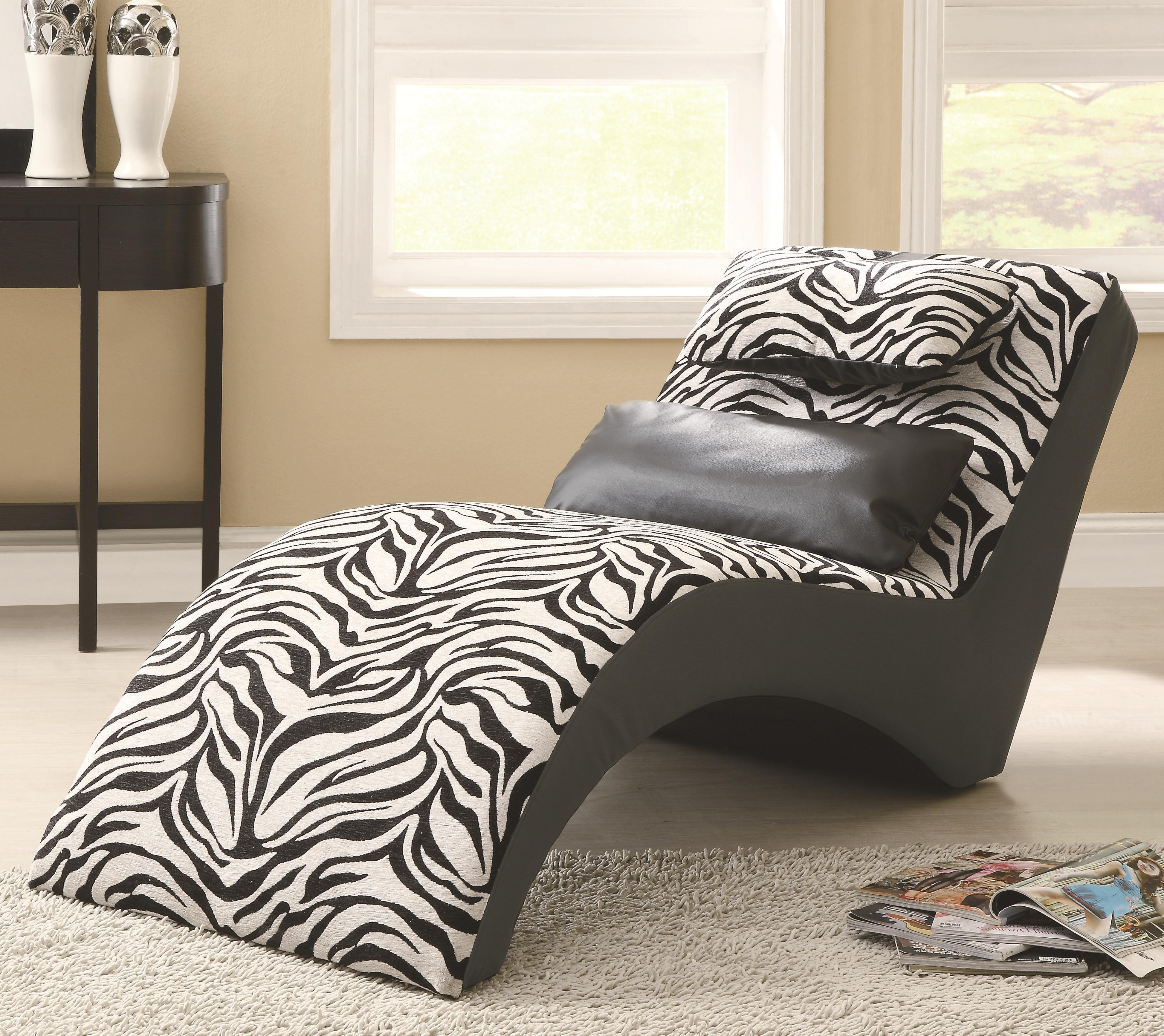 Best And Newest Zebra Print Chaise Lounge Chairs Intended For Furniture : Modern Zebra Print Modern Lounge Chair Near Black (View 4 of 15)