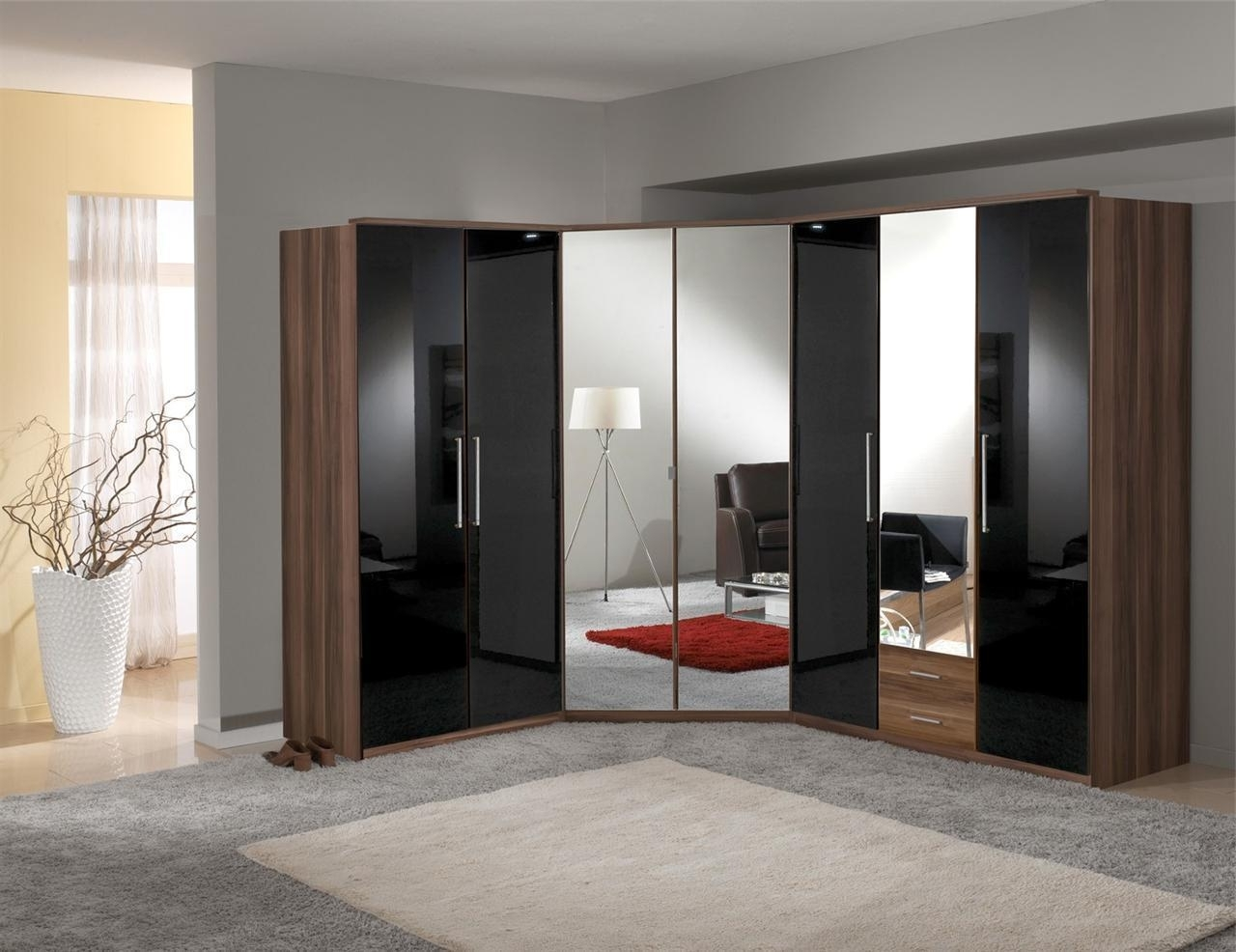 Best Mirrored Corner Wardrobe Deals (View 2 of 15)