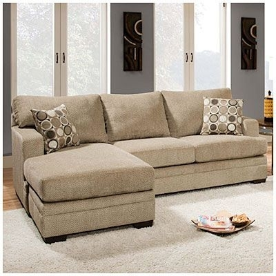 Big Lots Sofas Pertaining To Widely Used Simmons® Columbia Stone Sofa With Reversible Chaise At Big Lots (View 2 of 10)