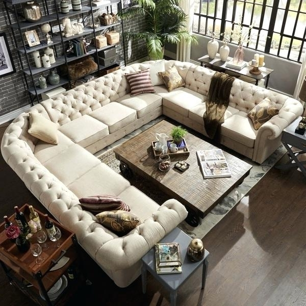 Big U Shaped Couches For Widely Used U Shaped Couch Large Size Of Sectional U Shaped Sectional Extra (View 8 of 10)