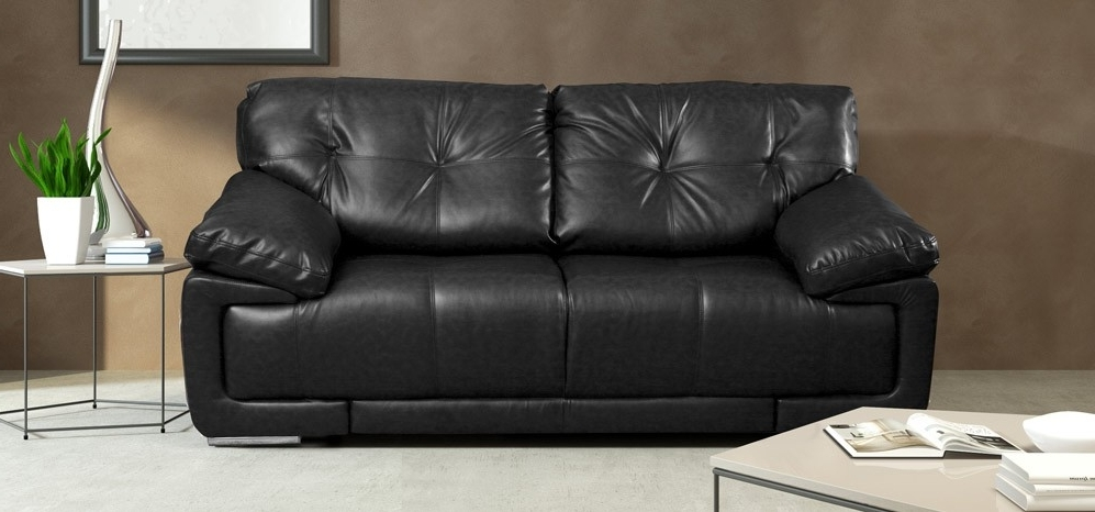 Black 2 Seater Sofas In Preferred Maxim 2 Seater Black (View 4 of 10)