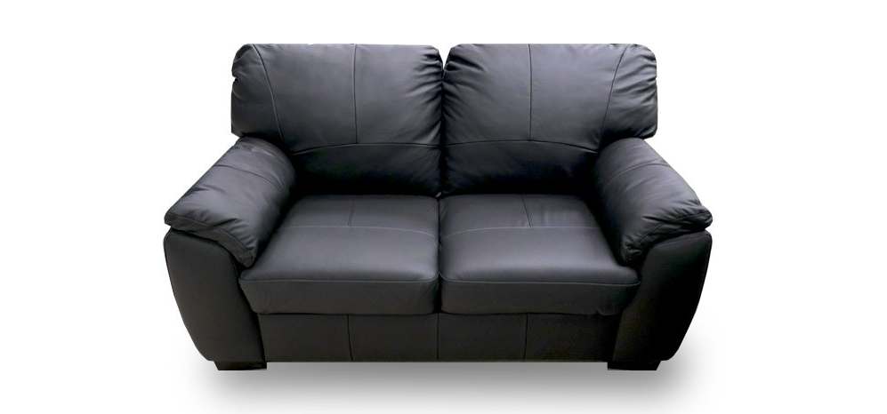 Black 2 Seater Sofas Intended For Best And Newest Black Leather Sofa 2 Seater (View 5 of 10)