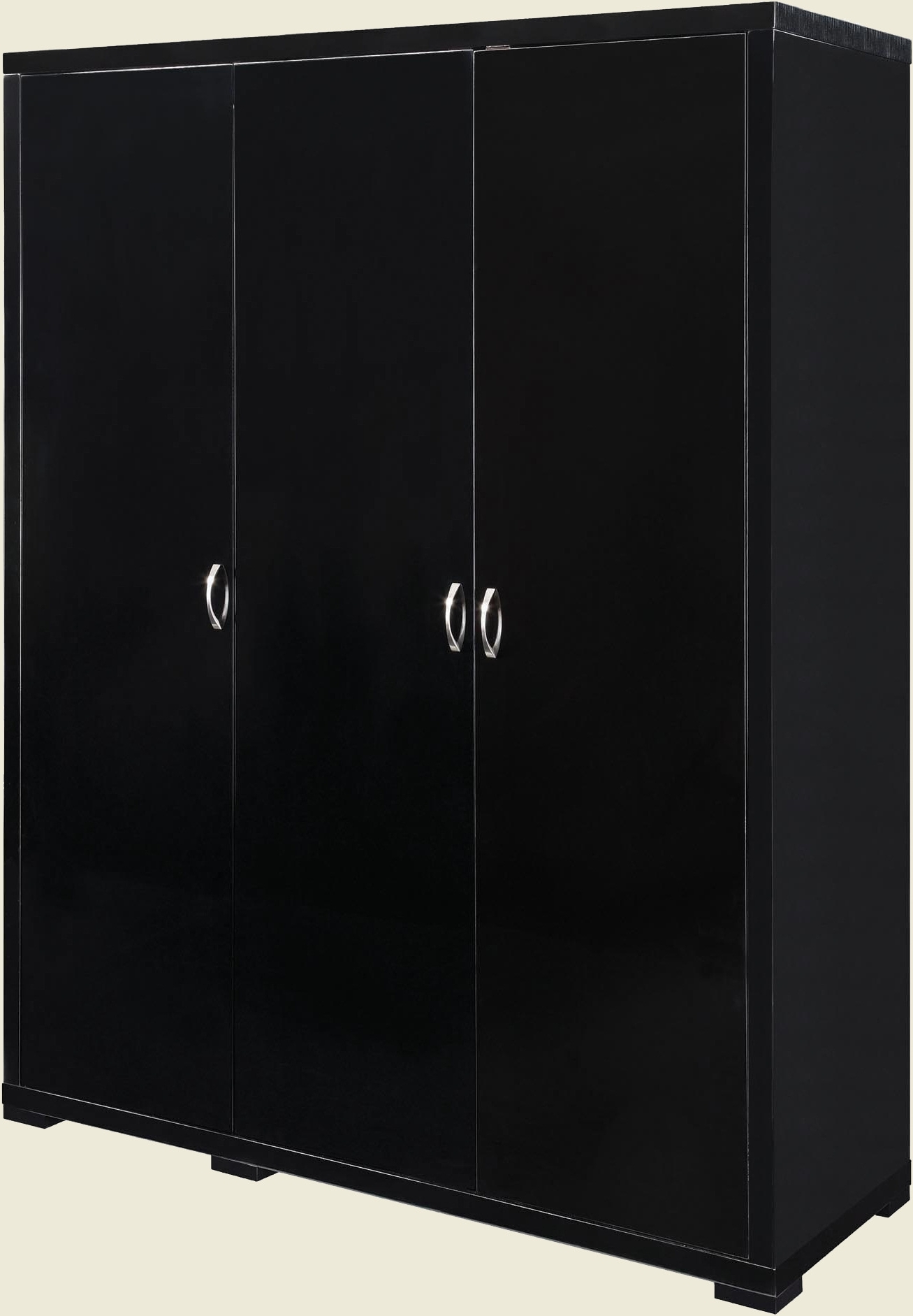 Black 3 Door Wardrobes In Preferred Luna 3 Door Wardrobe (View 4 of 15)