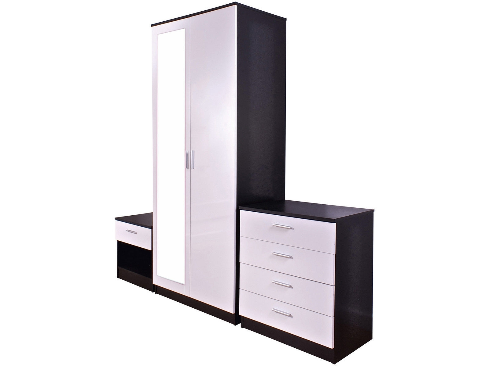 Black And White Wardrobes Set For Best And Newest White High Gloss Sliding Wardrobe Doors Black Wardrobes That Can (View 5 of 15)