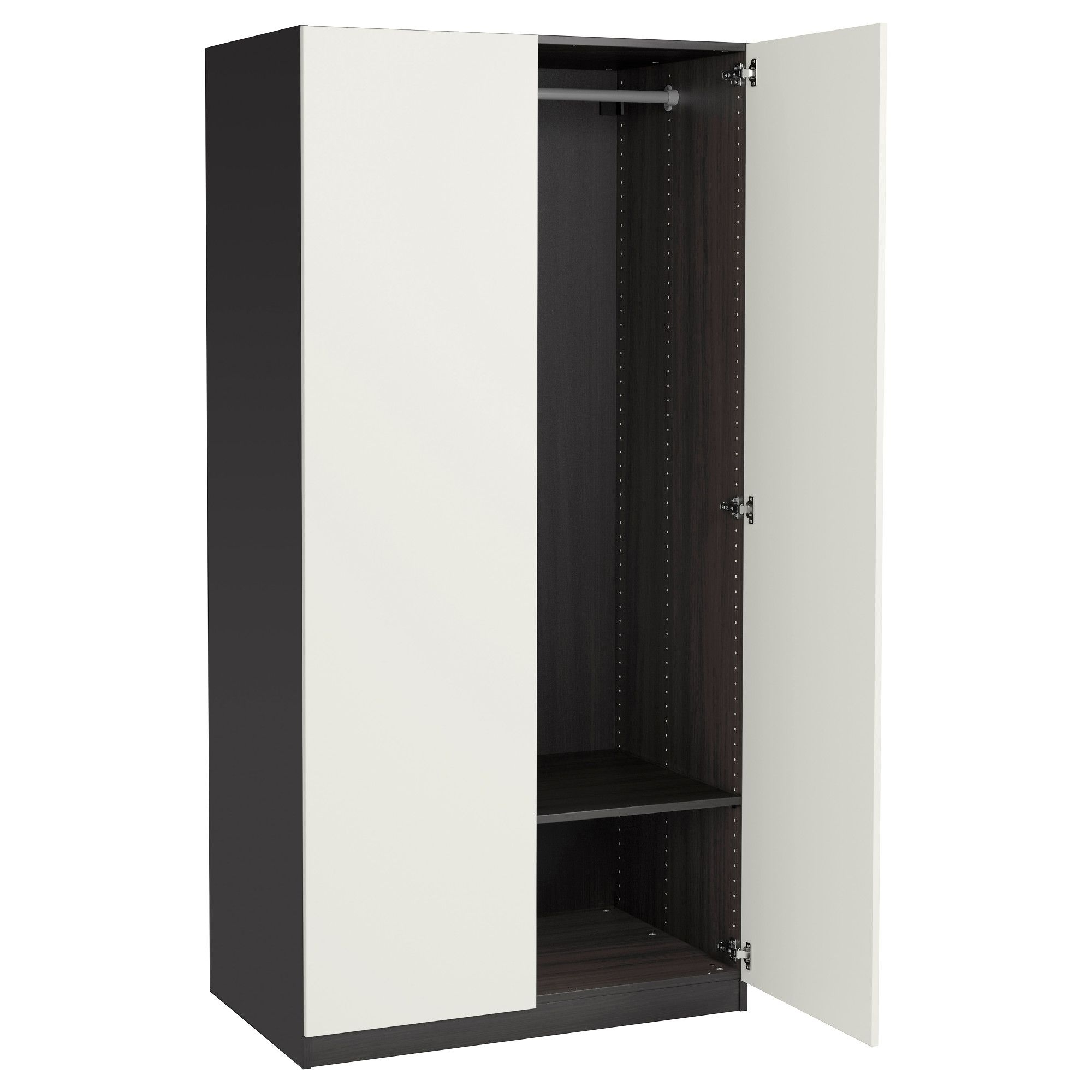 Black And White Wardrobes Set Regarding Widely Used Astonishing Berlin Door Corner Wardrobe Set High Gloss Black And (View 7 of 15)