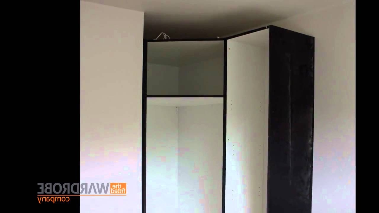 Black Corner Wardrobes Within Famous Fitted Corner Wardrobe High Gloss Black – Youtube (View 6 of 15)