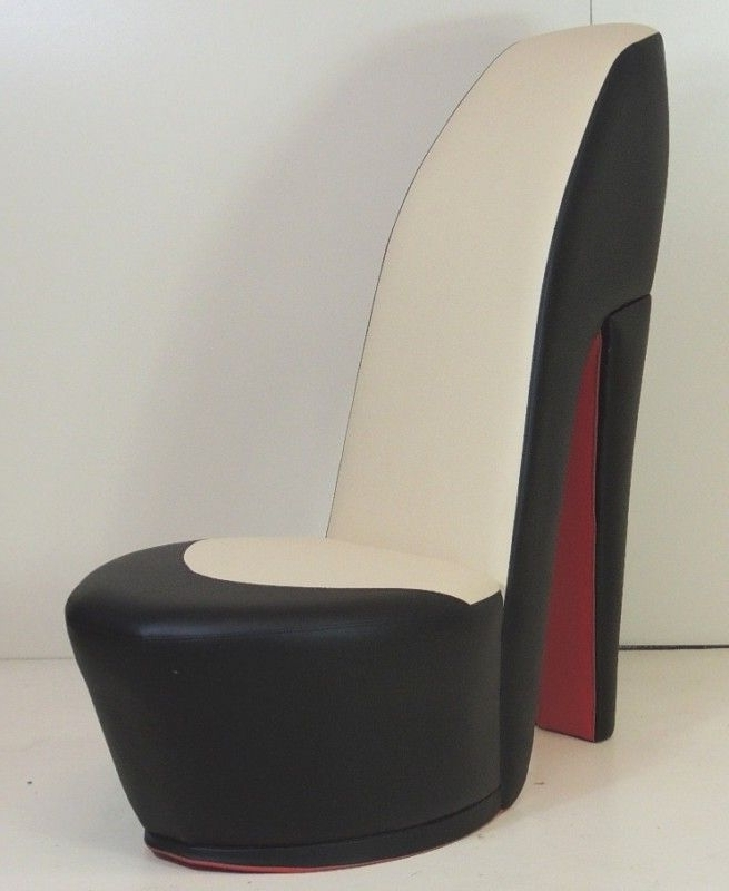 Black & Cream Shoe / High Heel / Stiletto Chair With Re For Most Up To Date Heel Chair Sofas (View 7 of 10)