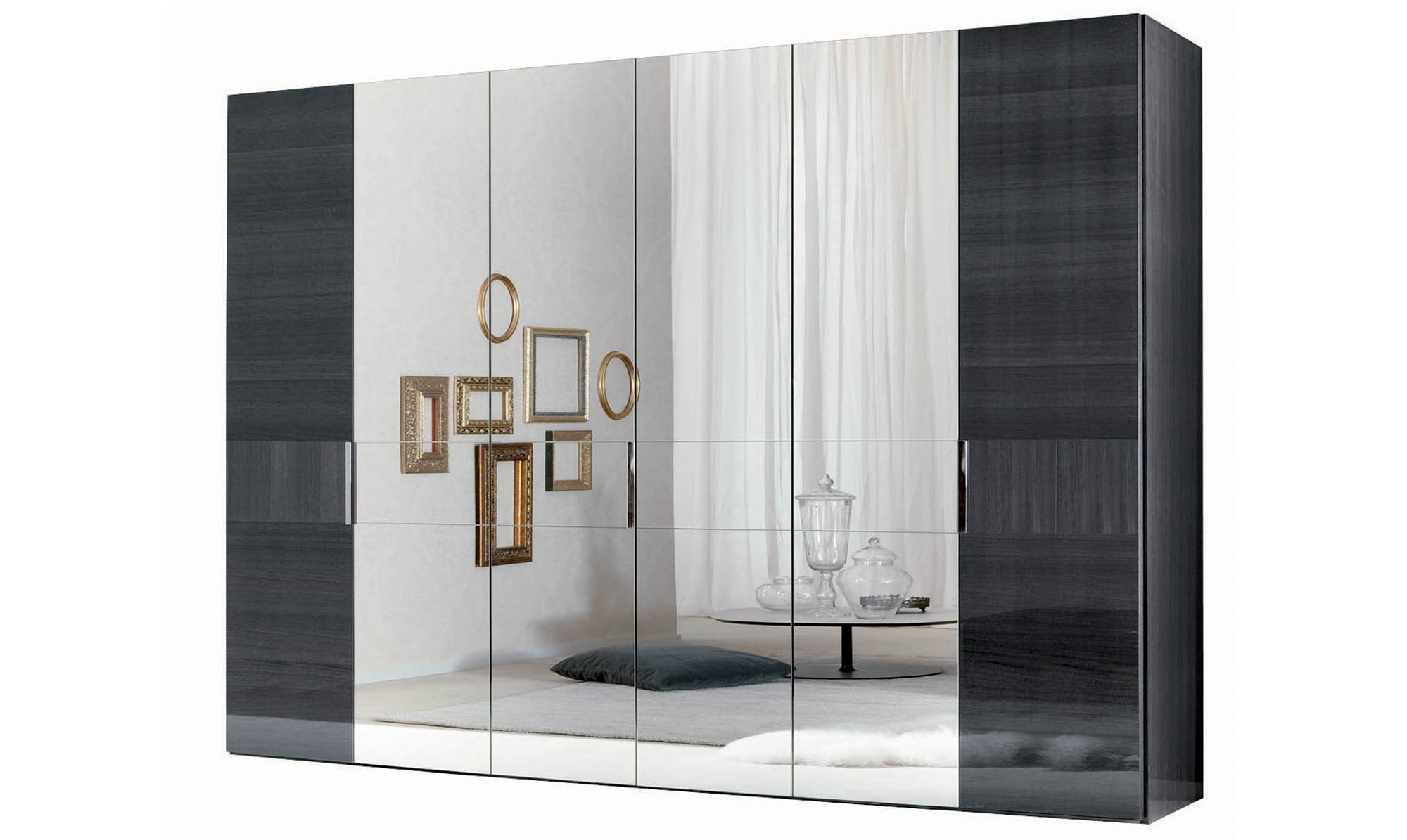 Featured Photo of Black Gloss Mirror Wardrobes