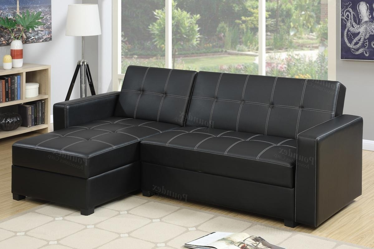 Black Leather Sectionals With Chaise Throughout Most Recently Released Black Leather Sectional Sofa Bed – Steal A Sofa Furniture Outlet (View 3 of 15)