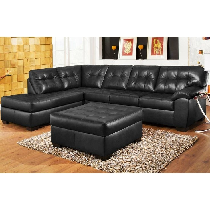 Black Leather Sectionals With Ottoman With Regard To Preferred 40 Best Sectional Sofa Images On Pinterest (View 5 of 10)