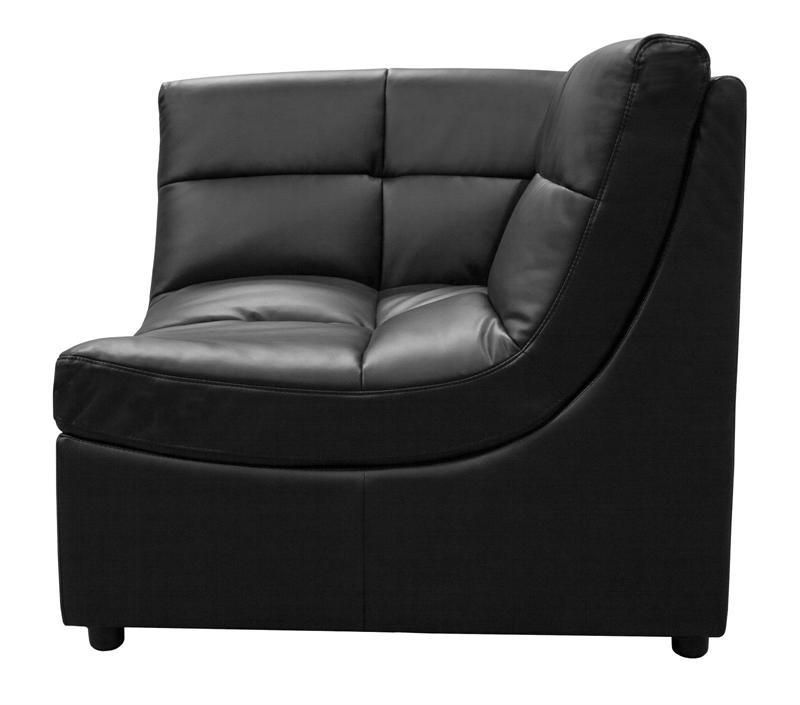 Black Modular Sectional Sofa 9148 Best Master Inside Most Current Leather Modular Sectional Sofas (View 1 of 10)