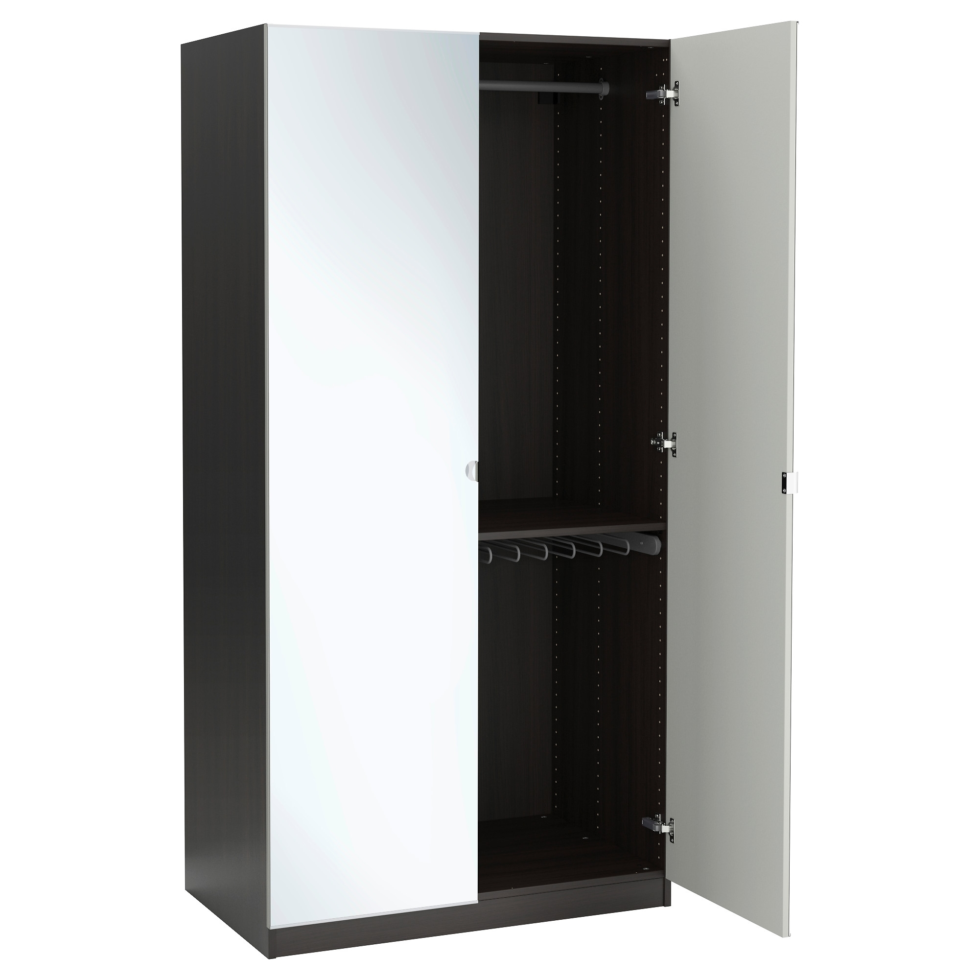 "Black Single Door Wardrobes Pertaining To Recent Pax Wardrobe – 39 3/8X23 5/8X79 1/4 "" – Ikea (View 7 of 15)"