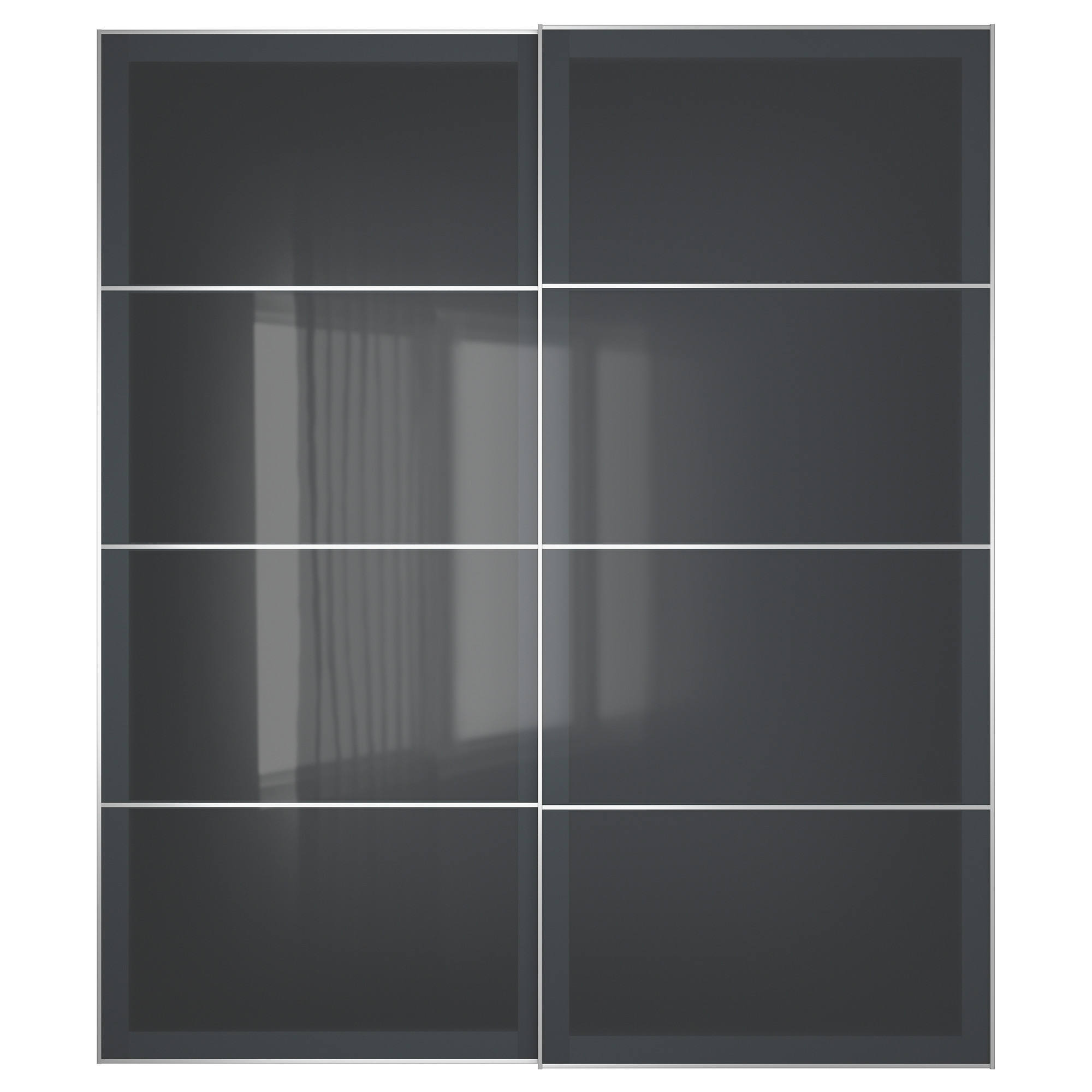 "Black Sliding Wardrobes Intended For Most Up To Date Uggdal Pair Of Sliding Doors – 59x92 7/8 "", – – Ikea (View 12 of 15)"