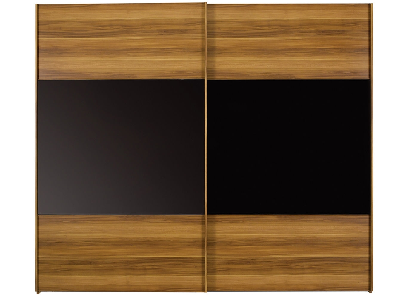 Black Wardrobes Throughout Most Recently Released Berkeley Black Sliding Wardrobe – Extra Large (View 7 of 15)