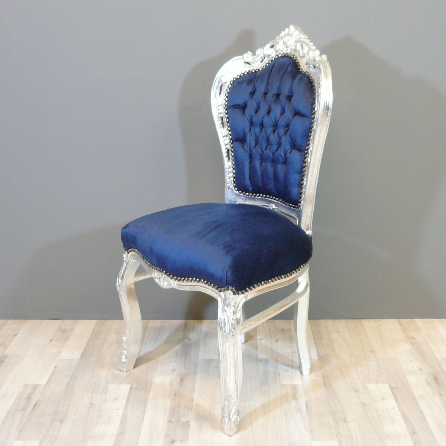 Blue Chaises With Regard To Famous Baroque Blue Chair – Chairs Baroque (View 5 of 15)