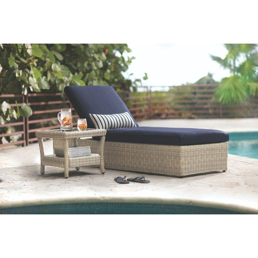Blue – Outdoor Chaise Lounges – Patio Chairs – The Home Depot Pertaining To Well Liked Outdoor Chaises (View 11 of 15)