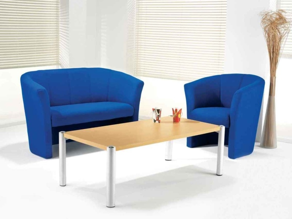 Blue Sofa Chairs With Newest Living Room Cozy And Chic Living Room Design With Ergonomic Blue (View 6 of 10)