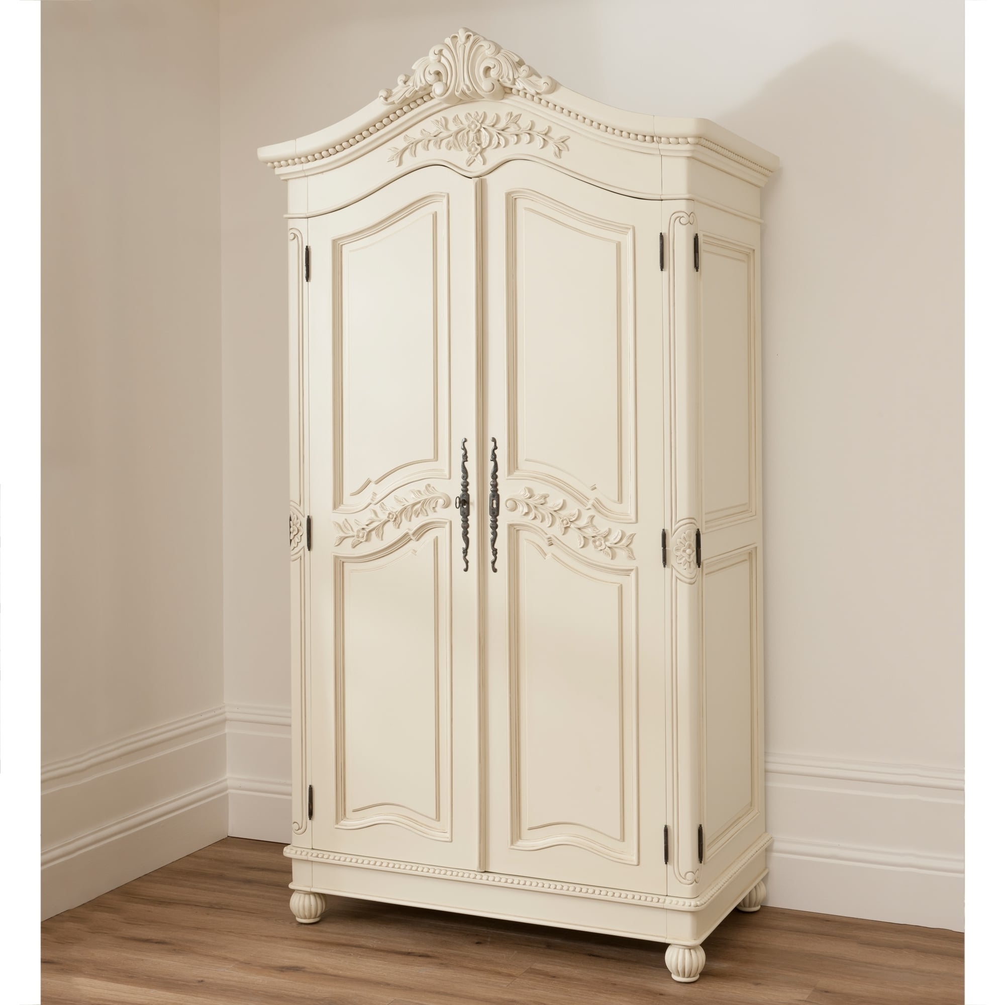 Bordeaux Ivory Shabby Chic Wardrobe (View 6 of 15)