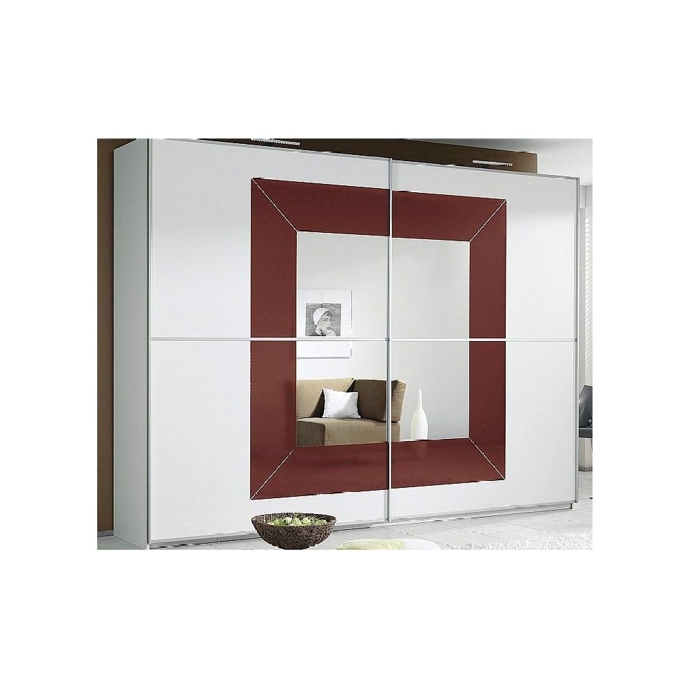 Bordeaux Wardrobes Pertaining To 2017 Rauch Sliding Door Wardrobes On Sale With Red Glass (View 7 of 15)